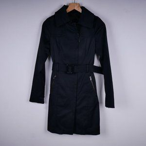 MACKAGE Black Mackage Belted Trench Coat